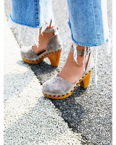 Jeffrey Campbell Free People Daubs Clog at Free People Clothing Boutique Women's Shoes, Gold Shoes, Cute Shoes, Me Too Shoes, Shoe Boots, Shoes Jordans, Crazy Shoes, Jeffrey Campbell, Fashion Shoes