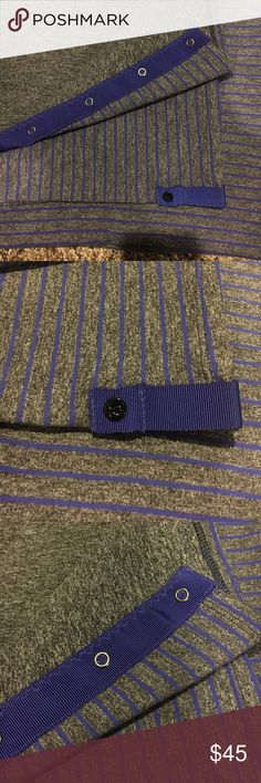 Vinyasa Scarf - Purple gray striped Perfect condition! No wear or pilling. lululemon athletica Accessories Scarves & Wraps
