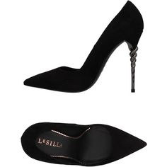 Le Silla Court (€365) ❤ liked on Polyvore featuring shoes, pumps, black, leather pumps, leather shoes, genuine leather shoes, black leather shoes and black shoes