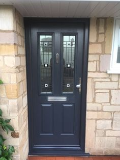 Composite door designer Nottingham – Windows Doors and Conservatories in Nottingham Grey Windows, Front Doors With Windows, Facade House, House Facades, Window Company, Small Entrance, Porch Doors, Composite Door, House Front Door