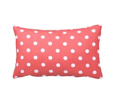 Coral Throw Pillows Decorative Pillows Throw Pillows for Couch Coral Pillow Covers Polka Dot Pillow Coral Decor Coral Lumbar Pillows Cushion by ReedFeatherStraw on Etsy https://www.etsy.com/listing/256595561/coral-throw-pillows-decorative-pillows