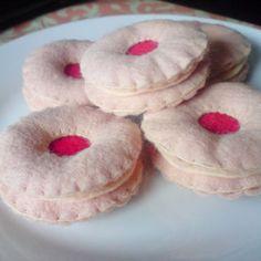 3 Jam Ring biscuits - Felt food £4.00