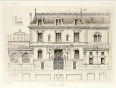 Elevation of a Hotel Particulier, Nimes