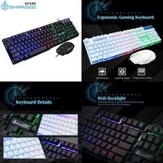 97c4798cf7d K500 USB Wired Gaming Keyboard Standard 104 Keys Ergonomic Multimedia... (eBay  Link