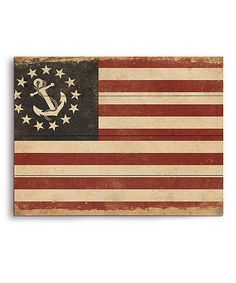 Loving this Anchored in the Red White & Blue Wall Art on #zulily! #zulilyfinds