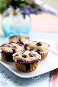 Gluten-Free Blueberry Muffins with Almond Flour. I love everything from this website! She has the best gluten free recipes.