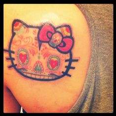 CUTE!!! Sugar skull Hello kitty! Reminds me of @Melissa Ashton