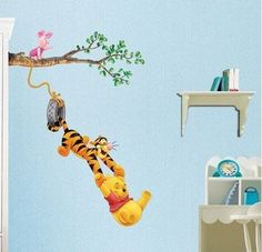 winni the pooh baby rooms | Winnie The Pooh Baby Nursery Room Wall Sticker Tiger - New and Used ...