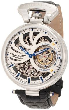Stuhrling Original Men`s 127C.331X2 Tourbillon Emperors Tourbillon Limited Edition Mechanical Skeleton Silver Tone Watch $999.00