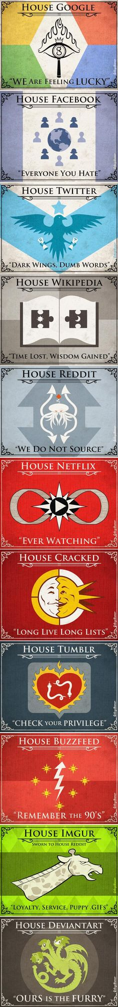 Game of Internets House sigils