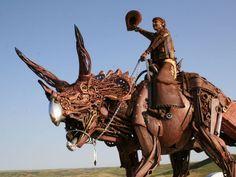 Esculturas increíbles hechas con desechos de maquinaria - Taringa!