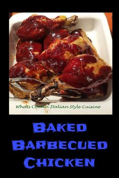 Baked Barbecued Chicken #recipe #recipes #cooking #roasted #chickenrecipes
