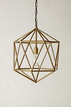 still love this... and so reasonable.  Euclidean Pendant, Faceted Orb - anthropologie.com
