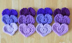 Crochet Heart Pattern ♥LCH-MRS♥ with step by step color picture instructions.