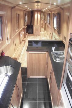 Fully fitted narrowboat by Aintree Boats Narrowboat Kitchen, Narrowboat Interiors, Boat Building Plans, Boat Plans, Motorhome, Canal Boat Interior, Sailboat Interior, Boat Projects, Boat Accessories