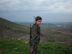 Kurdish young woman - YPJ (Women's Protection Unit) Fighter Torin Khairegi © Newsha Tavakolian for TIME (Meet the Women Taking the Battle to ISIS)