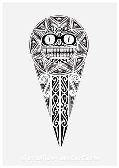 Funny Maori Sun Tattoo Design By Shepush Maori Tattoos, Maori Tattoo Meanings, Samoan Tribal Tattoos, Marquesan Tattoos, Tattoo Designs And Meanings, Leg Tattoos, Borneo Tattoos, Polynesian Tattoo Designs, Maori Designs