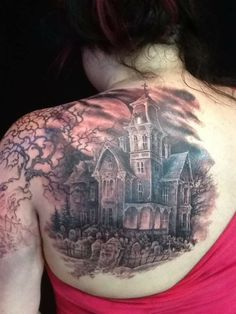 haunted cemetary tattoo