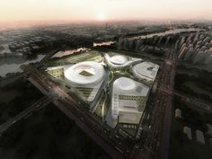 Gallery - Construction Begins on gmp Architekten's SIP Sports Centre in China - 6