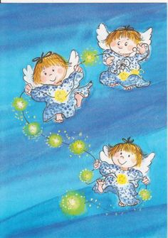 How lovely, thank you my sweet friend, Becky. Seraph Angel, Animated Clipart, Bright Art, Angel Crafts, Angel Art, Cute Images, Whimsical Art, Cute Illustration, Cherub