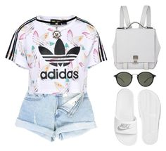 adidas by melanie-pacheco on Polyvore featuring moda, adidas Originals, NIKE, Proenza Schouler and Ray-Ban