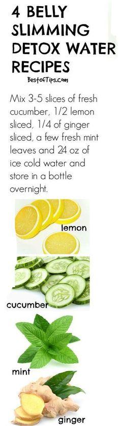 Natural belly slimming detox water recipes #detox ncnskincare.com/