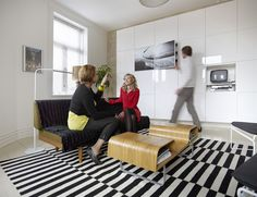 Ikea Besta units - fantastic storage for uncluttered look in this Norwegian household