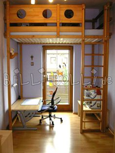 Highest Loft Bed With Security For Smaller Children.