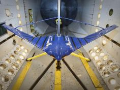 Langley researchers have been testing the Boeing Aerodynamic Efficiency Improvement Joined Wing Wind Tunnel Model in the Transonic Dynamics Tunnel.