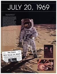 1969, men walk on moon
