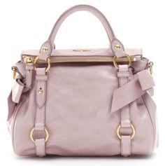 """Miu Miu Mini Bow Bag in """"Mughetto"""" (Light Pink). A girl can dream!"""