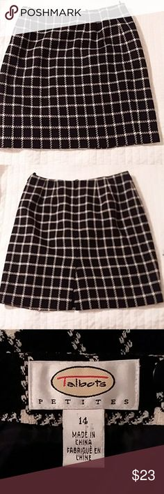 Talbot Petite 14P 100%wool Beautiful wool skirt EUC 14 P..small slit in back (6 in.)fully lined 😊🎁😊 Talbots Skirts Midi