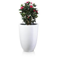 Blumenkübel Pflanzkübel LENO Fiberglas Farbe: grau
