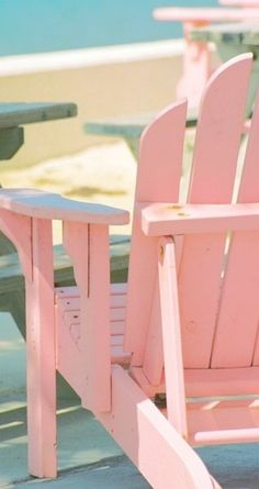 I have been debating what color to paint our Adirondack chair on the back patio and I think I'm now sold on this coral pink! Pink Love, Pretty In Pink, Perfect Pink, Vintage Pink, Tout Rose, Deco Restaurant, Beach Please, Pink Beach, Pink Summer