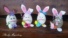 Skarby Magielnicy : Wielkanocne inspiracje - kolorowe zające Easter Dyi, Easter Crafts, Spring Crafts, Diy And Crafts, Kids, Holidays, School, Haha, Easter Activities