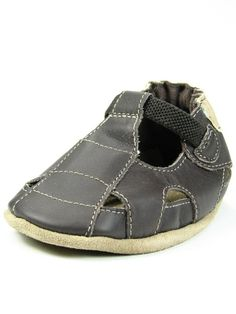 a61dedc936d7 Robeez Navy Blue Boys Sandals or Brown Baby Boy Closed Toe Fisherman Sandal Soft  Sole Baby Shoes
