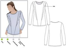 OWNED Keely Knit Top   Sizes 4 6 8  PDF sewing pattern for