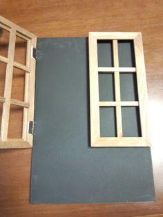 黒板シートは他の方のブログで紹介されていて 気になっていたもの! 他にも欲しいものがあったんだけど、それはおいおい買うことに(*´з`) 今回、セリアではこれだけ。   で、 ・窓枠風×2 ・ミニ黒板 ・蝶番(これは家にも在庫があったのにまた買っちゃった) ・アーチ型留め金 ・三角吊るし金具(家にあった在庫) ・ナンバープレート(家にあった在庫) ・ミニフック(家にあった在庫) ・リメイクシート(家にあった在庫)   これらオールセリア商品を使って飾りフックを作りました♪     まずは、黒板に蝶番で窓枠風をくっつけます。DSC_0340.jpg