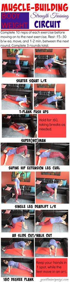 Muscle Sculpting Strength Training Workout {No Equipment Required} - Your Trainer Paige