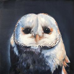 Barn Owl Oil Painting by IntrepidScribbler on Etsy