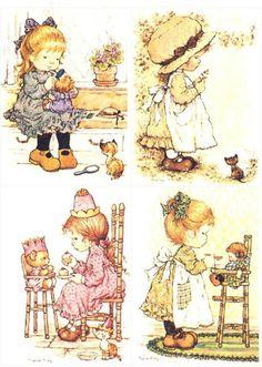 Sarah Key, Vintage Cards, Vintage Photos, Paper Doll Template, Life Is Too Short Quotes, Watercolor Landscape Paintings, Holly Hobbie, Art Portfolio, Paper Dolls