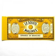 Vintage can label packaging branding