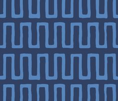 Urn in china blue fabric by domesticate on Spoonflower - custom fabric