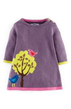 Mini Boden Knit Dress (Baby Girls) available at