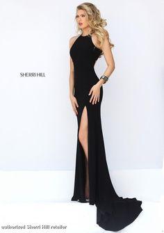 Image result for black dress slit