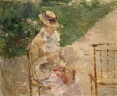 Young Woman Knitting, by Berthe Morisot