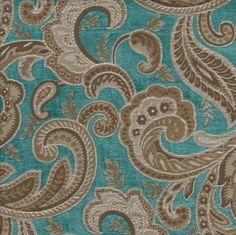 Designer Upholstery Fabric: Boulange Turquoise
