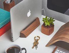Walnut MacBook Dock by Grovemade Macbook Pro Setup 5ec7bf0e6e