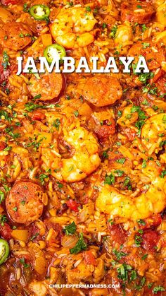 This homemade jambalaya is loaded with bold flavor with shrimp, sausage and chicken, plus Cajun seasonings and peppers. Your family will love this healthy dish. #cajunfood #spicy #dinnerrecipes Spicy Recipes, Seafood Recipes, Cooking Recipes, Easy Cajun Recipes, Sweet Sausage Recipes, Cajun Seafood Pasta, Shrimp And Sausage Jambalaya, Cajun Chicken And Rice, Andouille Sausage Recipes