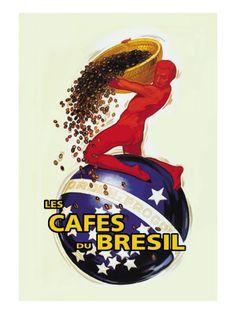 The Coffees of Brazil Decalque em parede